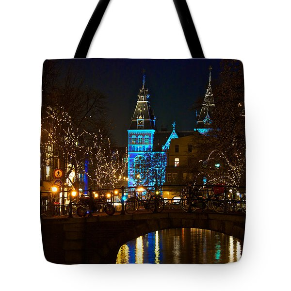 Rijksmuseum At Night Tote Bag by Jonah  Anderson