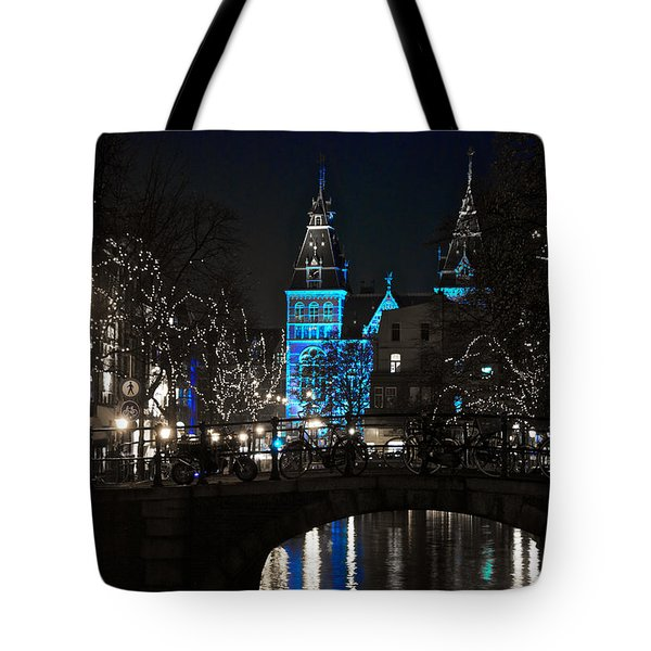 Rijksmuseum In Blue Tote Bag by Jonah  Anderson