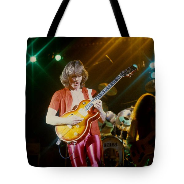 Rik Emmett Of Triumph At The Warfield Theater In San Francisco Tote Bag