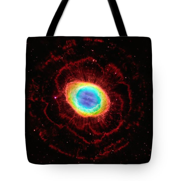 Ring Nebula's True Shape Tote Bag by Marco Oliveira