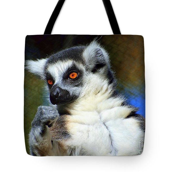 Tote Bag featuring the photograph Ring-tailed Lemur by Lisa L Silva