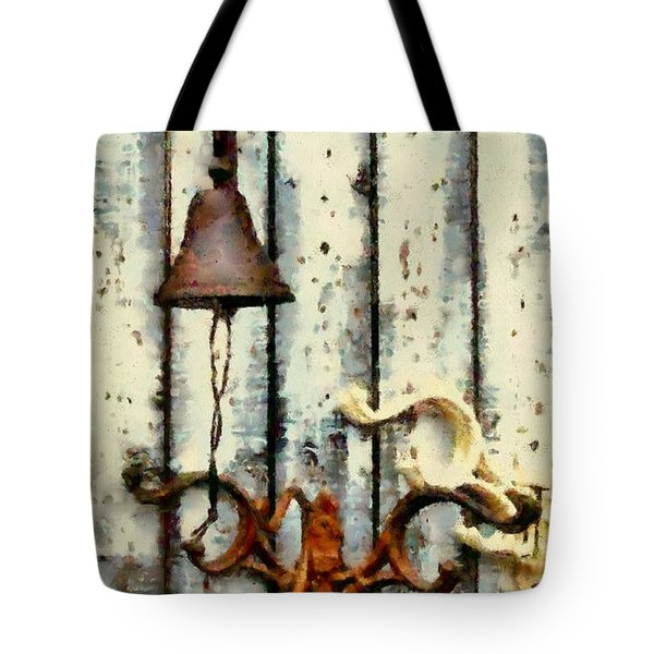 Ring The Bell Tote Bag by Janine Riley