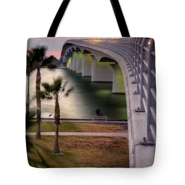 Ringling Causeway Bridge Overlook Tote Bag
