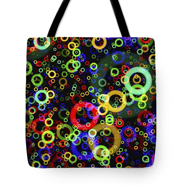 Rings In Space Tote Bag by Daniel Hagerman