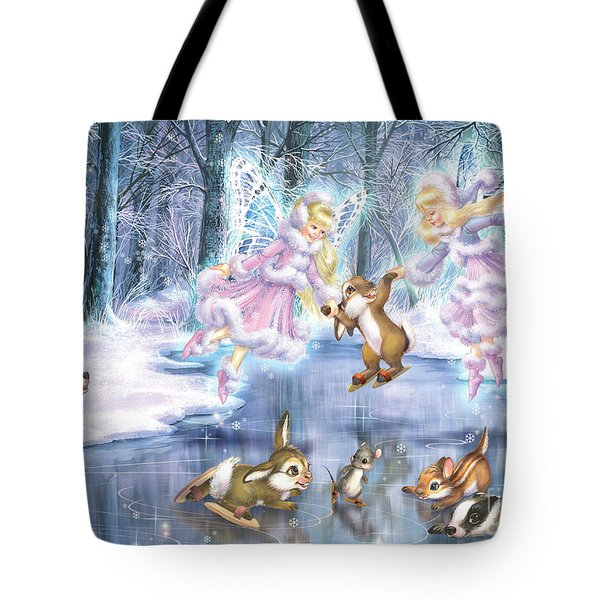 Rink In The Forest Tote Bag by Zorina Baldescu