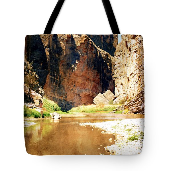 Rio Grande At Santa Elena Canyon Tote Bag