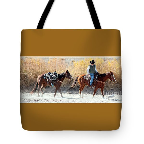 Rio Grande Cowboy Tote Bag by Barbara Chichester