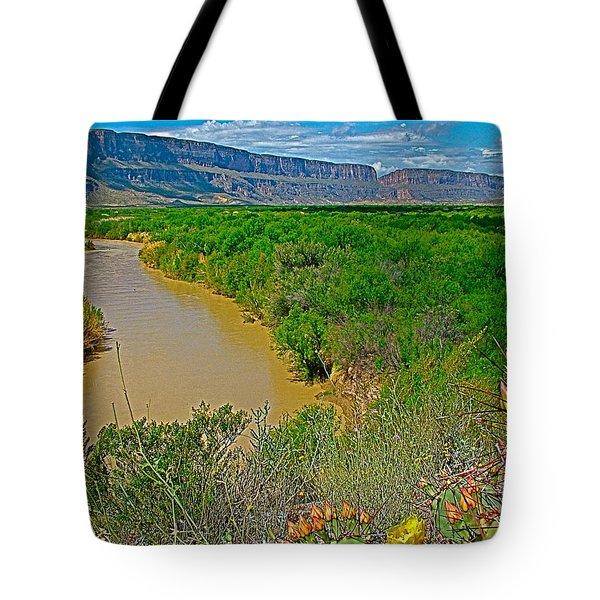 Rio Grande East Of Santa Elena Canyon In  Big Bend National Park-texas Tote Bag