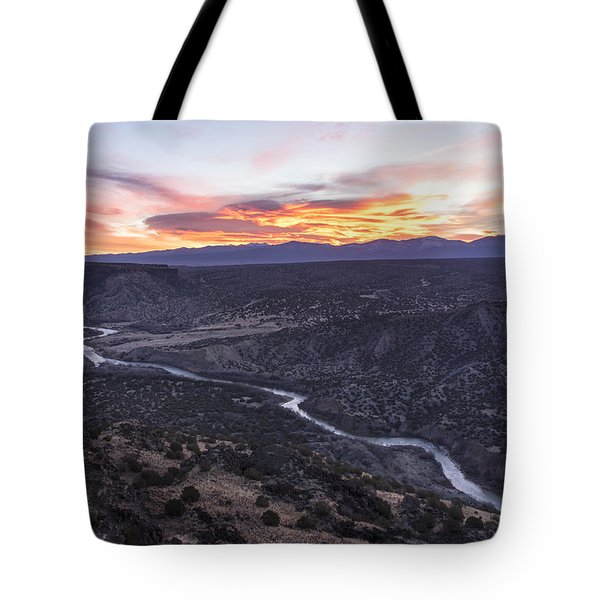 Rio Grande River Sunrise - White Rock New Mexico Tote Bag