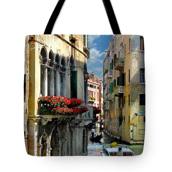 Tote Bag featuring the photograph Rio Menuo O De La Verona. Venice by Jennie Breeze