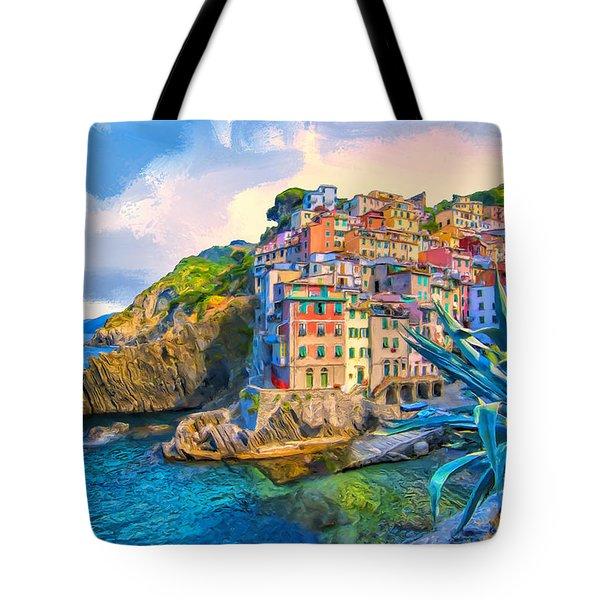 Riomaggiore Morning - Cinque Terre Tote Bag by Dominic Piperata