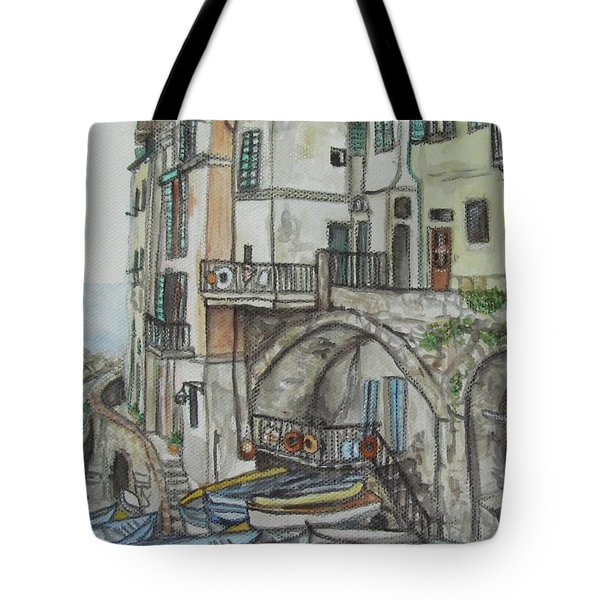 Riomaggoire Cinque Terre Italy Tote Bag by Malinda  Prudhomme