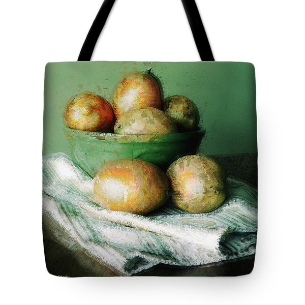Ripe Mangoes In A Bowl Tote Bag