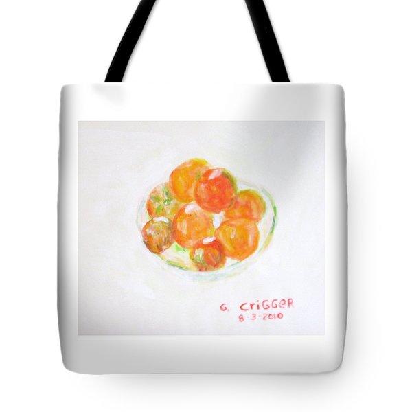 Ripening Tomatoes Tote Bag