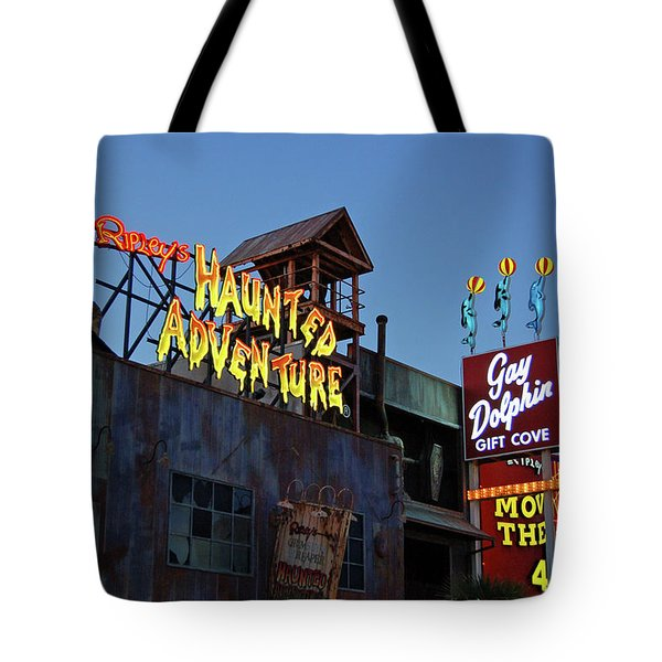 Ripleys Haunted Adventure And The Gay Dolphin-myrtle Beach South Carolina Tote Bag by Suzanne Gaff