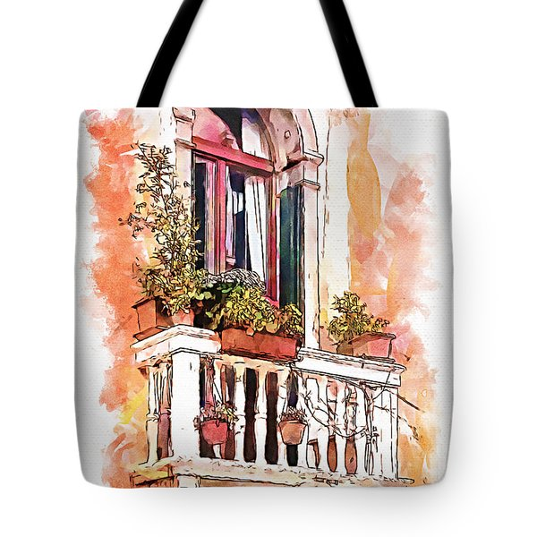 Tote Bag featuring the painting Riposo by Greg Collins