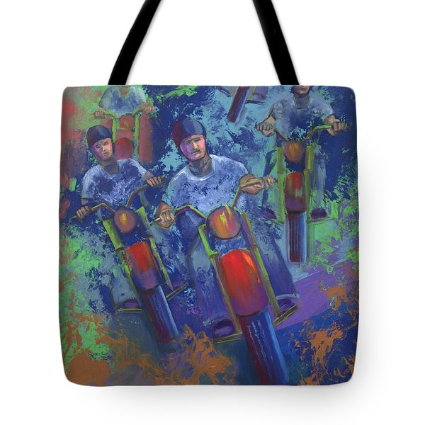 Rippin It Up Tote Bag by Peter Bonk