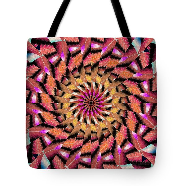 Rippled Source Kaleidoscope Tote Bag