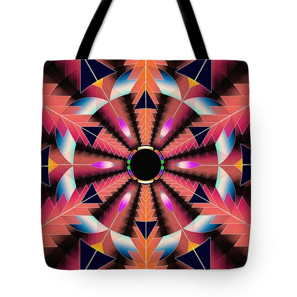 Tote Bag featuring the drawing Rippled Source Of Light by Derek Gedney