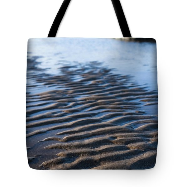 Ripples In The Sand Tote Bag by Anne Gilbert