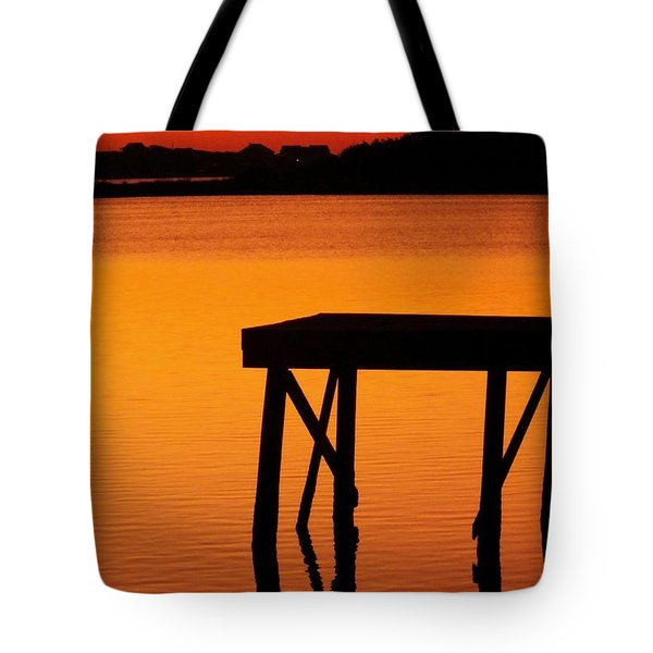 Ripples Of Copper Tote Bag by Karen Wiles