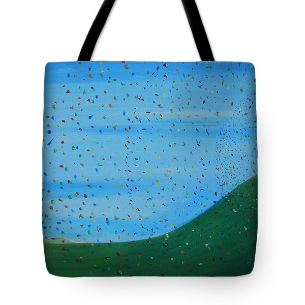 Ripples Of Life 2 Tote Bag by Tim Mullaney