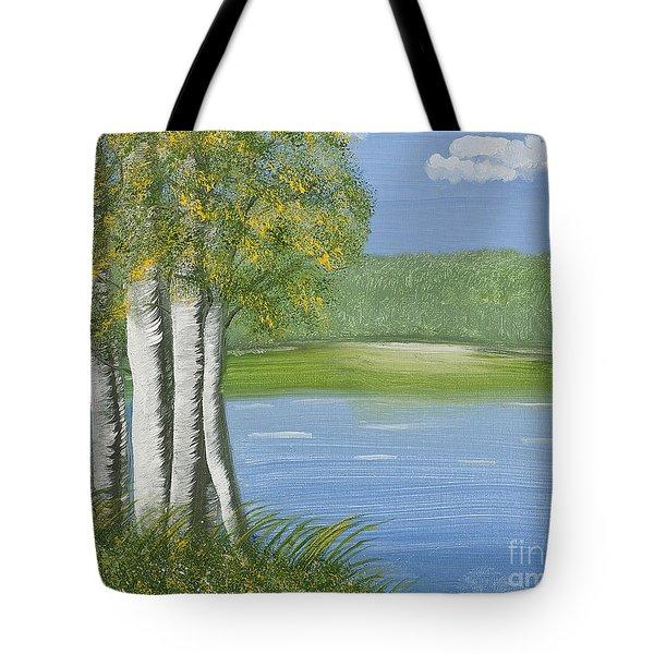 Ripples Of Water Tote Bag