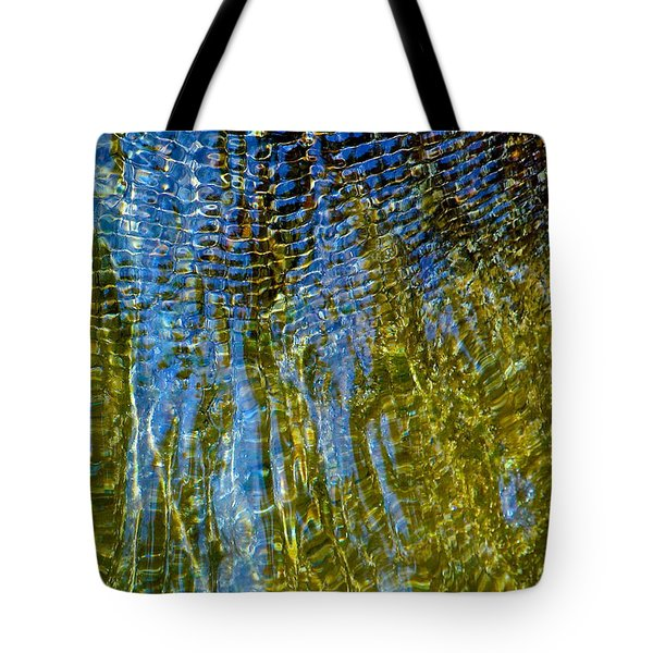 Ripples On The Rocks Tote Bag
