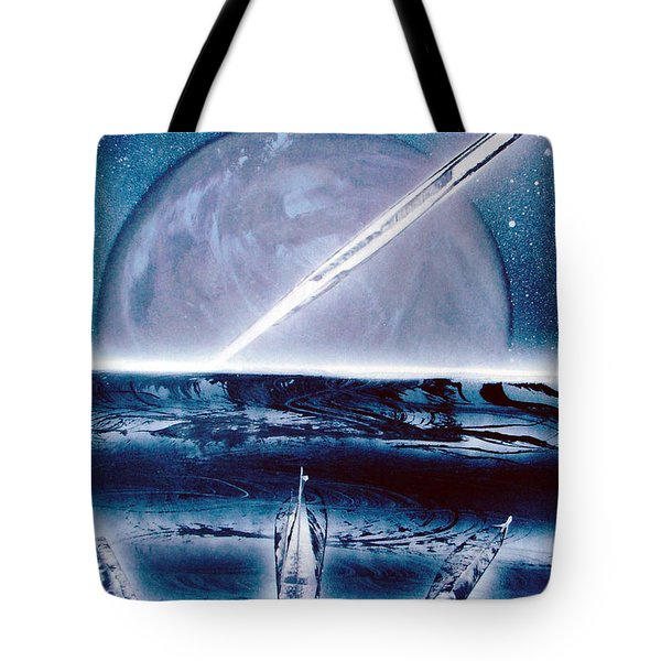 Tote Bag featuring the painting Riptide  by Jason Girard