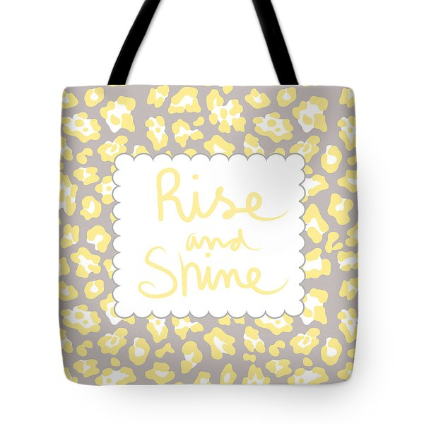 Rise And Shine- Yellow And Grey Tote Bag
