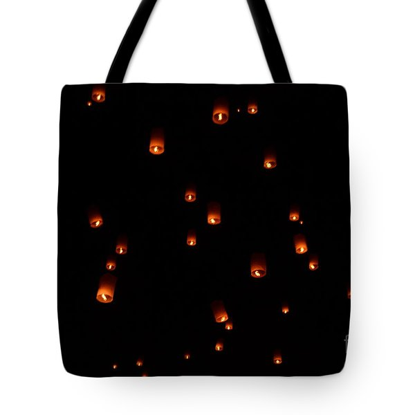 Rise Festival Lanterns 2014 Horizontal Sky Only Number One Tote Bag
