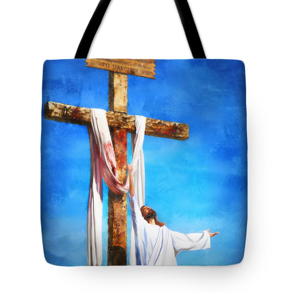 Tote Bag featuring the digital art Risen by Francesa Miller