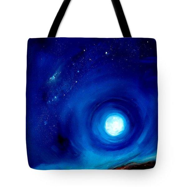 Rising Desert Moon Tote Bag