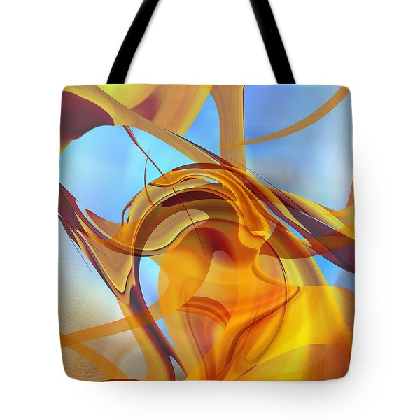 Rising Into Sky Blue Abstract Tote Bag by rd Erickson