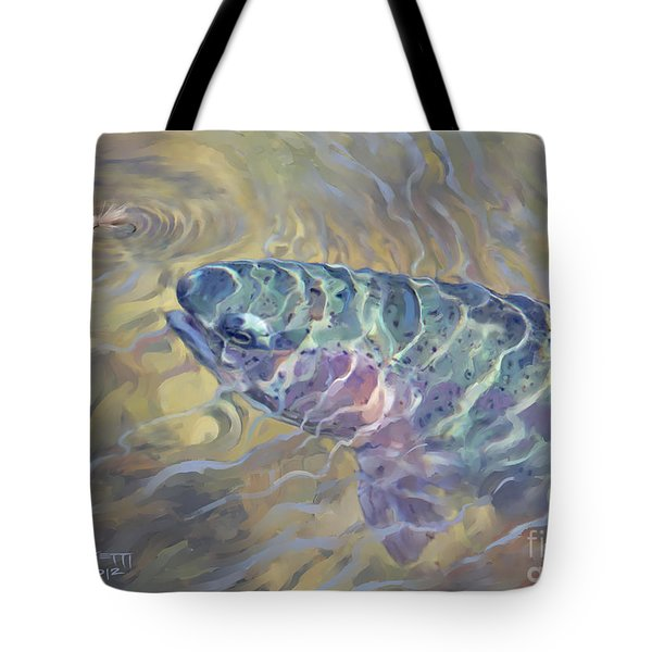 Rainbow Rising Tote Bag by Rob Corsetti