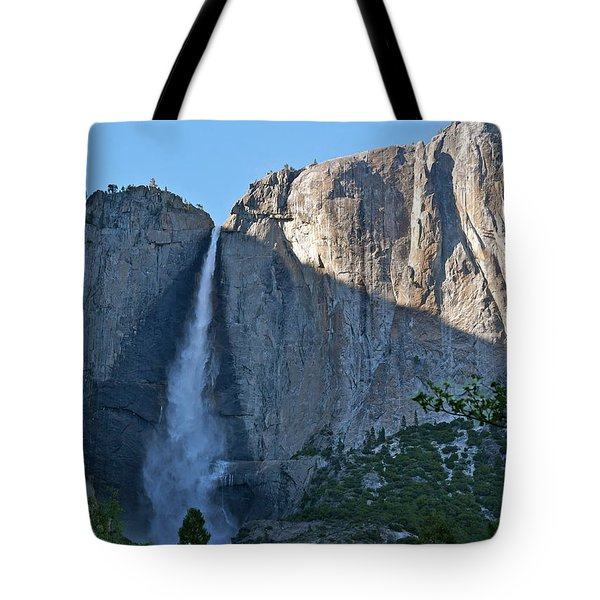 Rising Sun At Upper Yosemite Falls Tote Bag