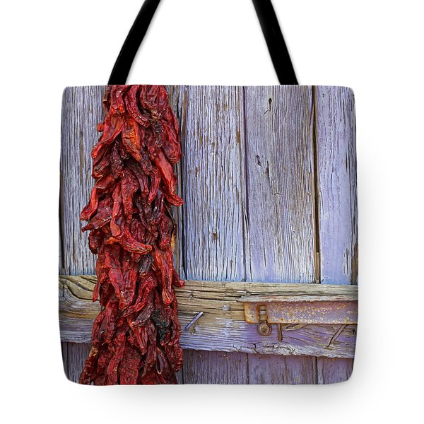 Tote Bag featuring the photograph Ristra by Lynn Sprowl