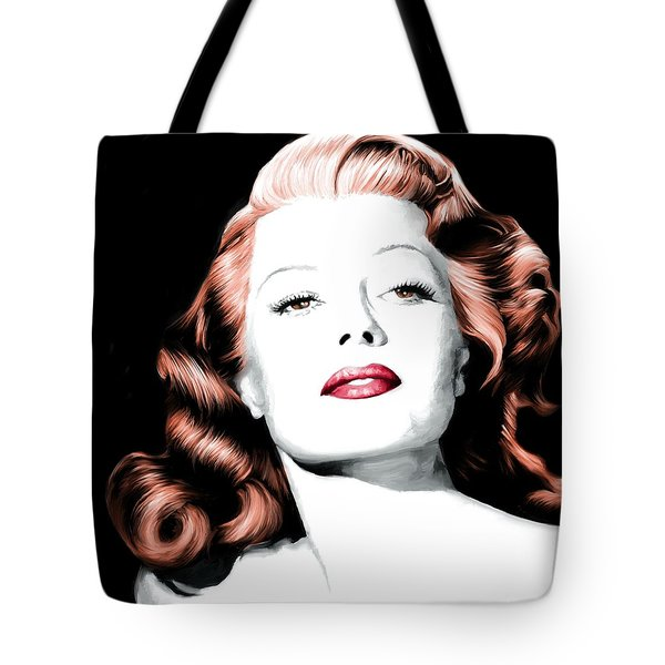 Rita Hayworth Large Size Portrait Tote Bag