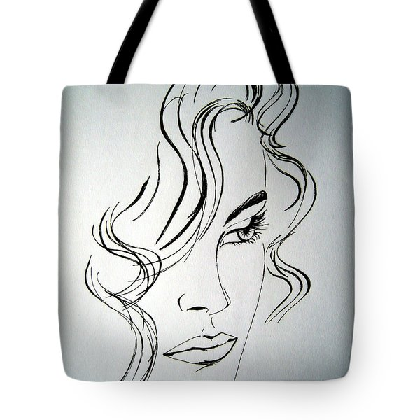 Ritratto Di Una Donna Sconosciuta - Portrait Of An Unknown Woman Tote Bag by Ze  Di