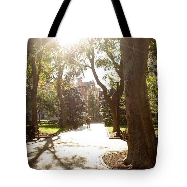 Rittenhouse In The Sun Tote Bag by Christopher Woods