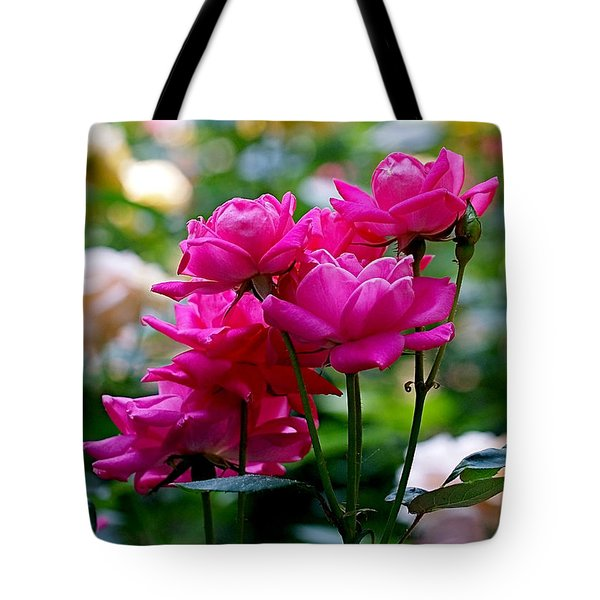 Rittenhouse Square Roses Tote Bag by Rona Black