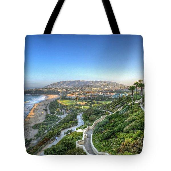 Ritz-carlton Laguna Niguel Ocean View Tote Bag by David Zanzinger