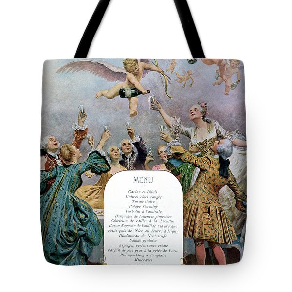 Ritz Restaurant Menu Tote Bag by Maurice Leloir