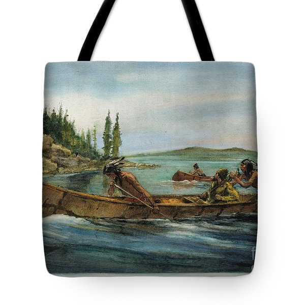 Rival Fur Traders  Tote Bag by Granger