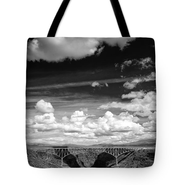 River And Clouds Rio Grande Gorge - Taos New Mexico Tote Bag