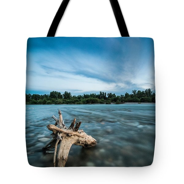 River At Night Tote Bag by Davorin Mance