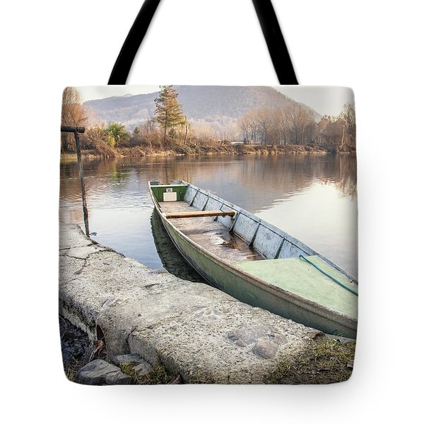 River Boat Tote Bag