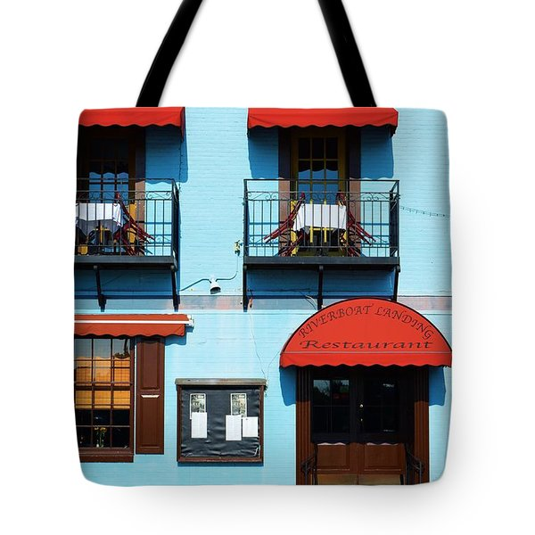 River Boat Landing Tote Bag