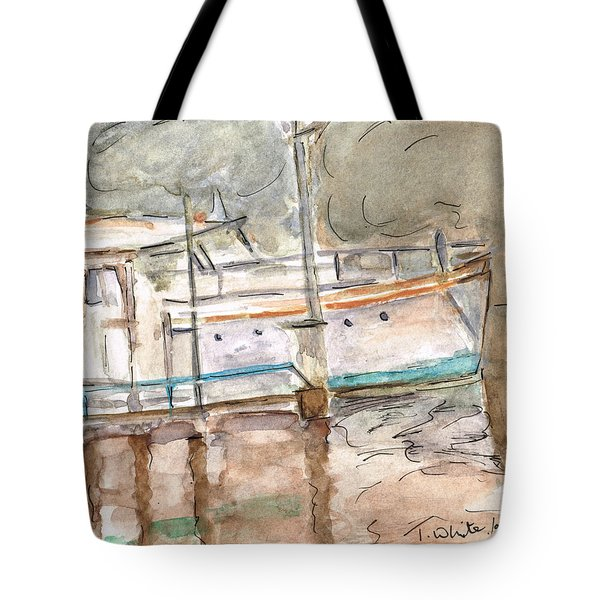 Tote Bag featuring the painting River Boat  by Teresa White