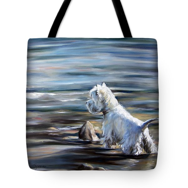 River Boy Tote Bag by Mary Sparrow